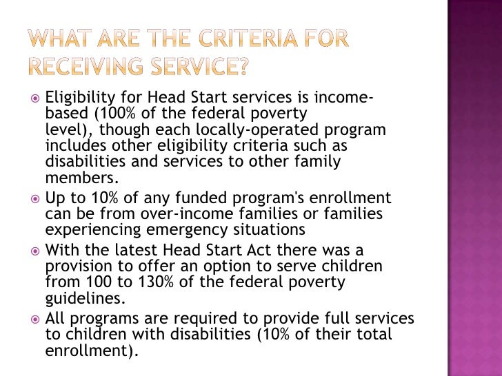 an experiment on the head start program Long-term effects of head start on low-income children implied by the recent head start experiment of actu- long-term effects of head start on earlier cohorts of.