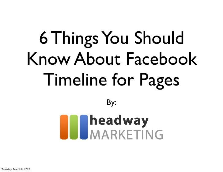 6 Things You Should                   Know About Facebook                     Timeline for Pages                          ...