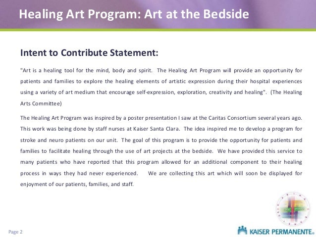 Healing Art Program- Art at the bedside