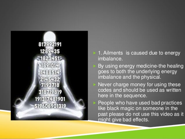 Healing codes to cure yourself
