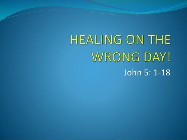 John 5: 1-18