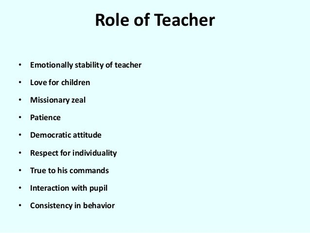 Teacher s mental health in relation to