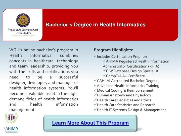 Bachelors Degree In Health Information Management Online
