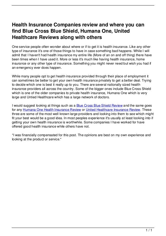 Best Rated Health Insurance Companies >> Health Insurance Companies Review And Where You Can Find