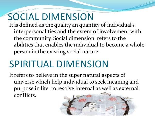 Health its dimensions