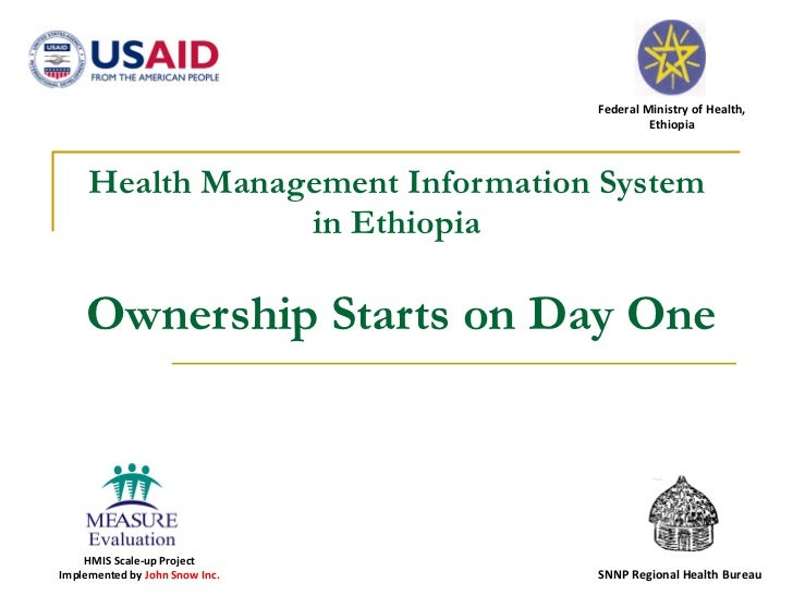 Health Management Information System in Ethiopia   Ownership Starts on Day One