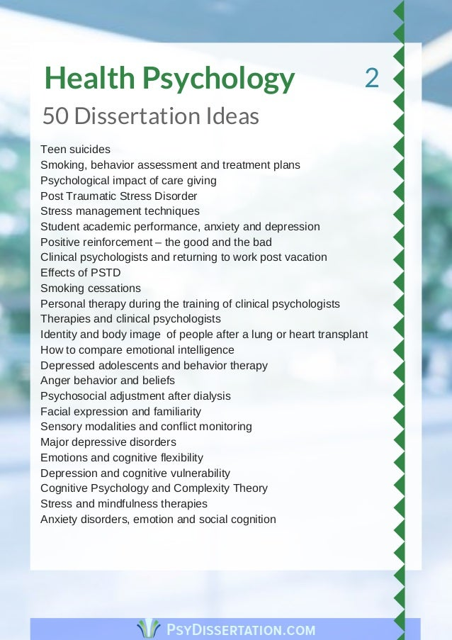 Thesis ideas for psychology dissertation proposal ghostwriter site gb