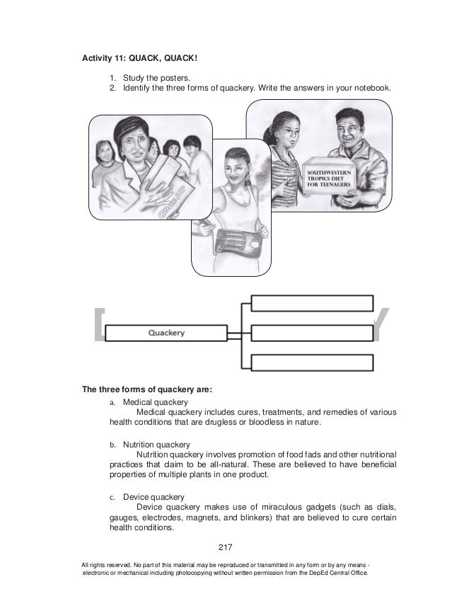 Grade 10 Health - Learning Material {Unit 1: Consumer Health}