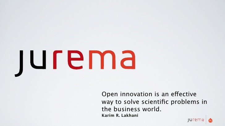 Open innovation is an effective way to solve scientific problems in the business world. Karim R. Lakhani