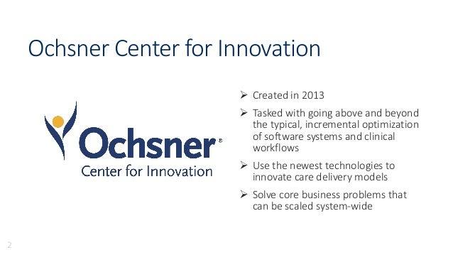 Mobile Health at Ochsner: The Apple HealthKit and Epic EMR Integration Slide 2