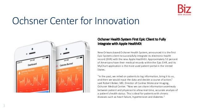 Mobile Health at Ochsner: The Apple HealthKit and Epic EMR Integration Slide 3