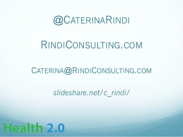 Rindi - Health 2.0 Blockchains Introduction Presentation
