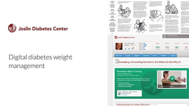 Joslin  Digital diabetes weight  management