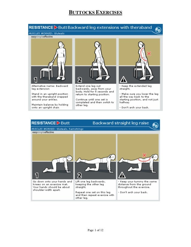 BUTTOCKS EXERCISES      Page 1 of 12
