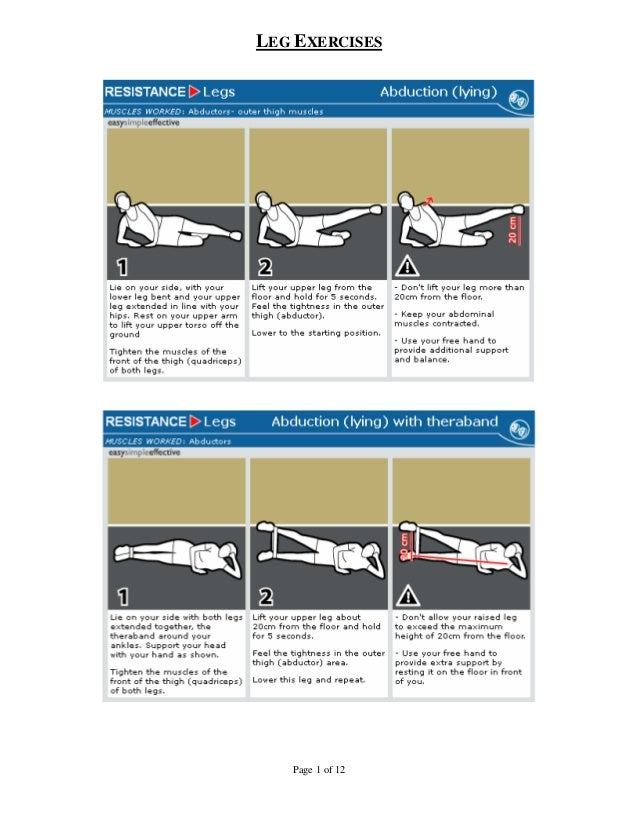 LEG EXERCISES   Page 1 of 12