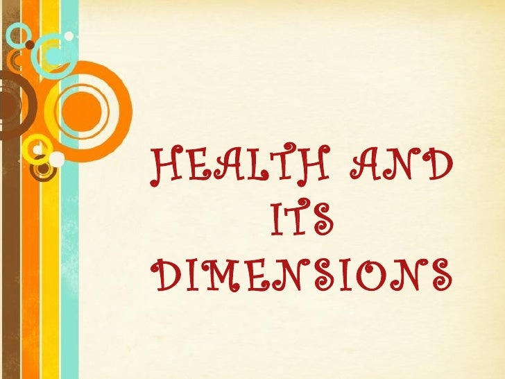 Health and itsdimensionppt health and itsdimensions free powerpoint templates toneelgroepblik Image collections