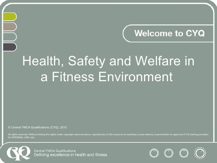 Health and safety in fitness