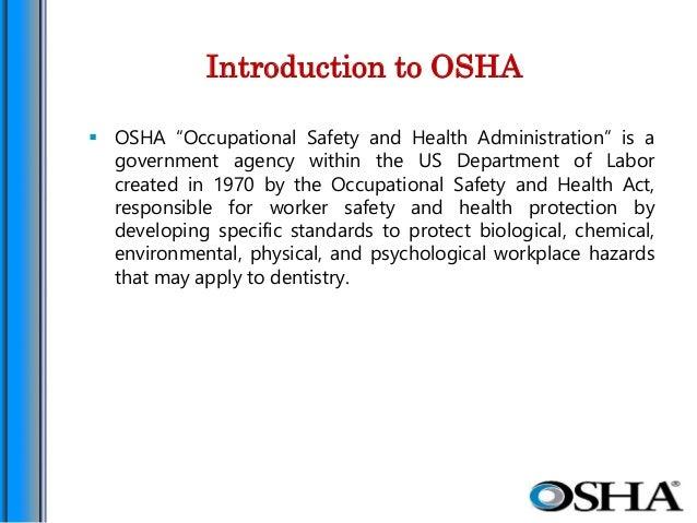 introduction to osha osha occupational safety and health