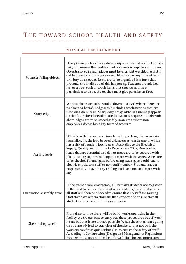 health and safety p2 Resources on how to protect you and your family's health, the health effects of pollutants and research conducted by epa on the impact of the environment on human health.