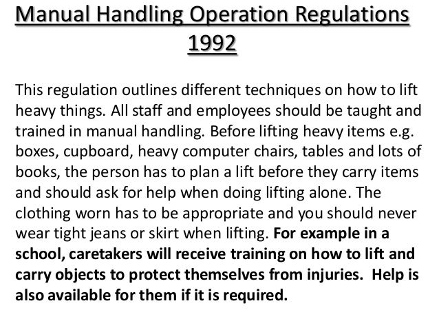 health and safety legislation in health and social care rh slideshare net Manual Handling Techniques Manual Handling Techniques