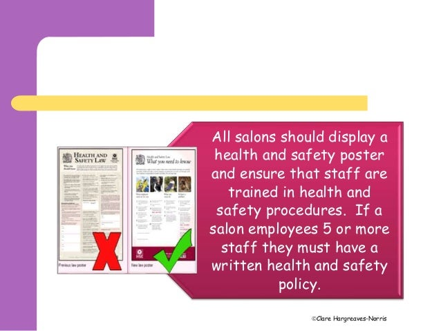 heath and safety legislation Occupational health and safety  modern occupational health and safety legislation usually demands that a risk assessment be carried out.