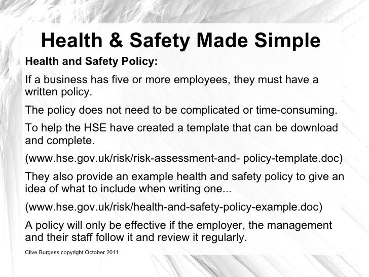 Health And Safety Made Simple
