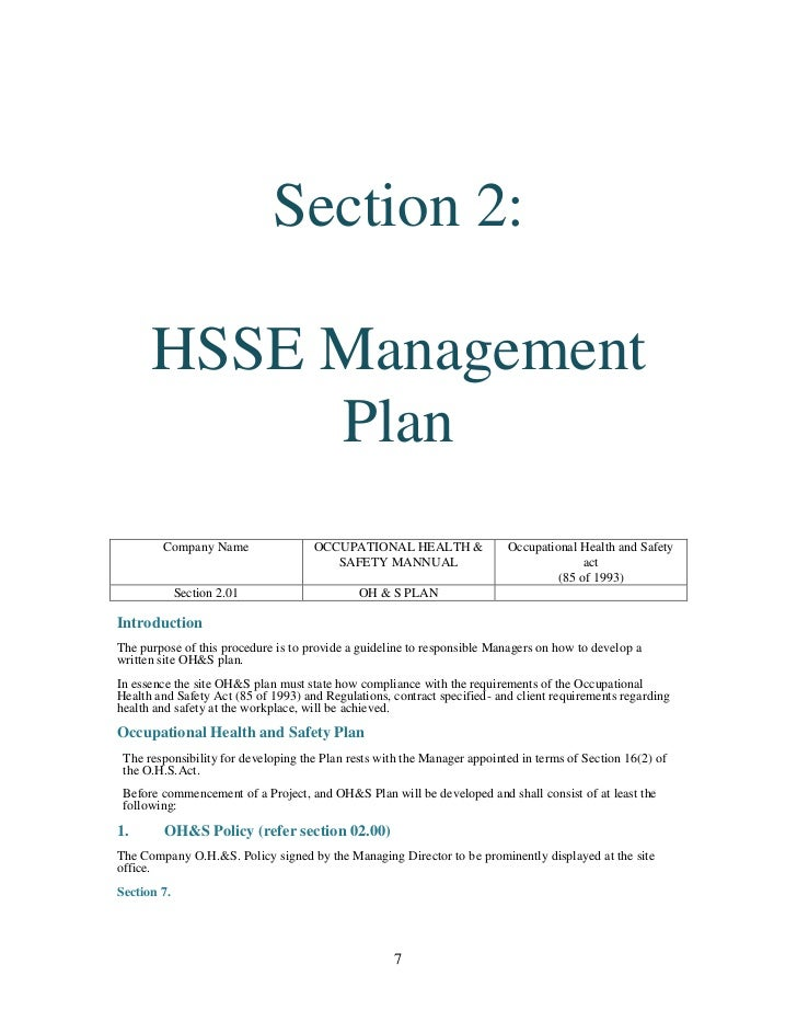 construction health and safety plan example - Khafre