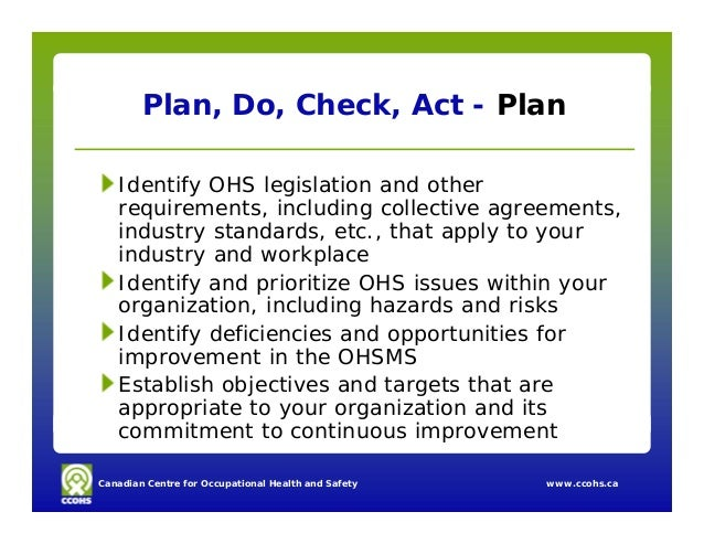 assessment 5 ohs and your The canadian standards association (csa) z1002 standard occupational health and safety what the scope of your risk assessment will be (eg.
