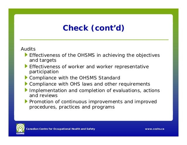 implementation of ohsms Jamie clapham implementing ohsms in the health care industry 207 ray  cooke building your own oh&s management system – workcover's d-i-y kit.