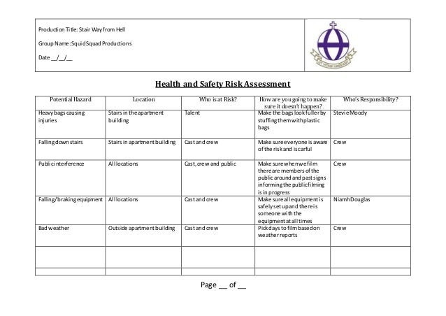Risk Assessment The Stairway From Hell