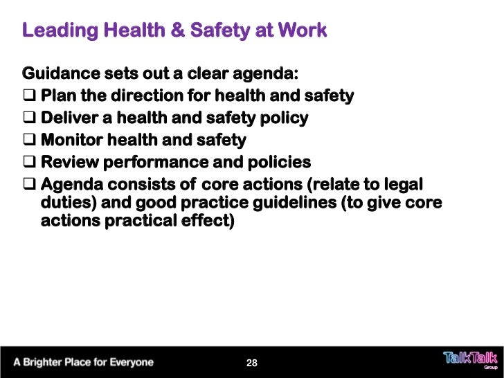 Health And Safety Seminar (October 2011) (Talk Talk Version)