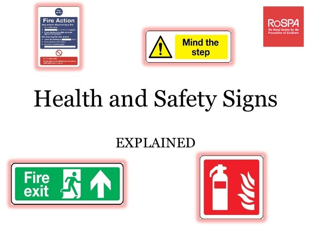 Health and safety signs explained!