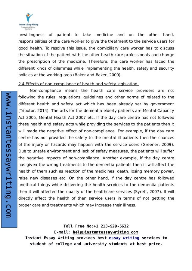 contribute to health and safety in health social care essay Free essay: unit 208 understanding health and safety in social care outcome 1 understanding the different responsibilities relating to health and safety in.