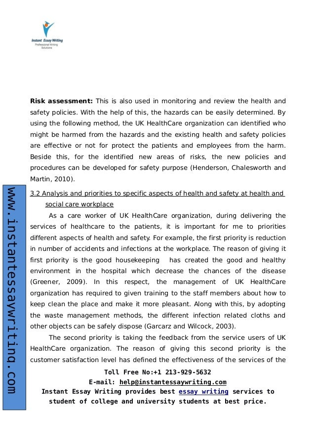 sample report on health and social care by expert writers  12