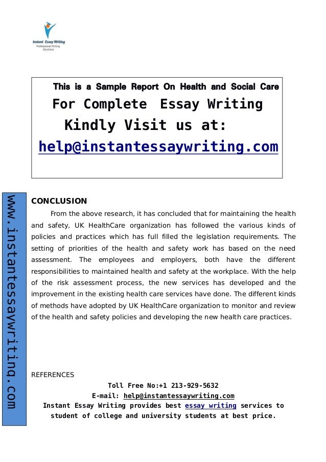 health and social care 14 essay The following essay or dissertation on the topic of health and social care has been submitted by a student so that it may help you with your research work and dissertation help you are only allowed to use the essays published on these platforms for research purpose, and you should not reproduce the work.