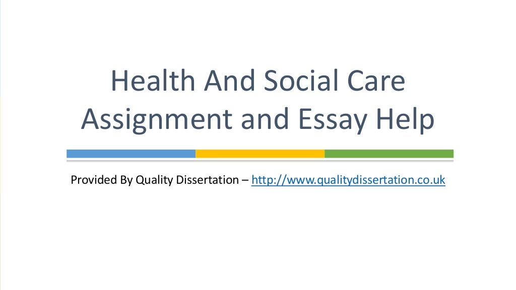 Health and Social Care Assignment & Essay Help