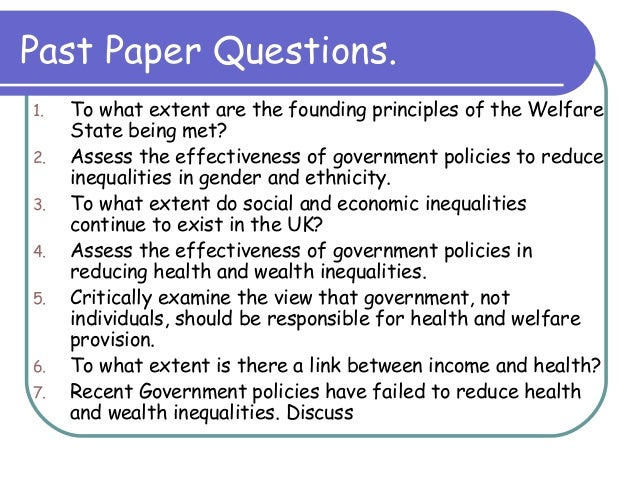 health and wealth inequalities essay questions health and wealth inequalities past paper questions 2