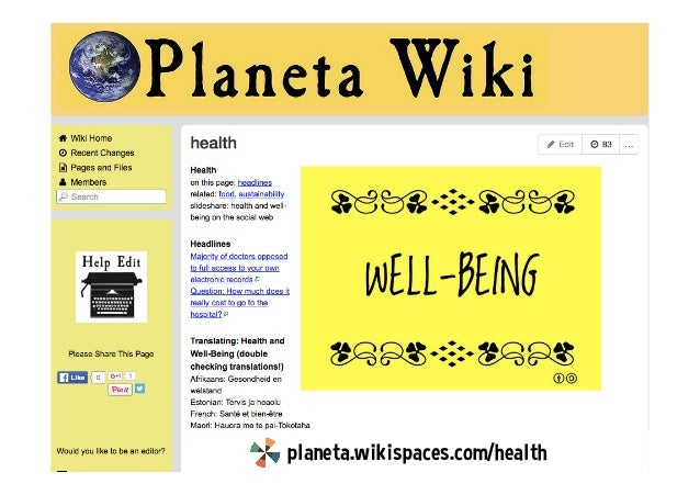 Health and Well-Being on the Social Web