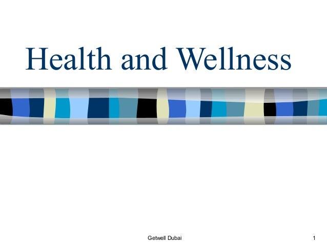 Health and Wellness        Getwell Dubai   1