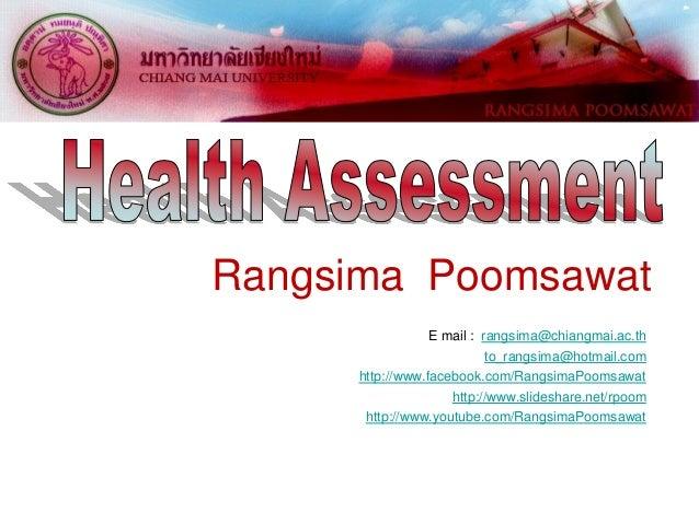 Rangsima Poomsawat E mail : rangsima@chiangmai.ac.th to_rangsima@hotmail.com http://www.facebook.com/RangsimaPoomsawat htt...