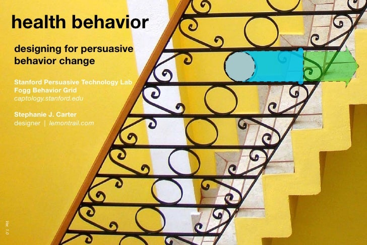 a behavior model for persuasive design Design impacts behavior if you know how to impact behavior, you can design for behavior here's how to do it do you know bj fogg you should dr bj fogg founded.