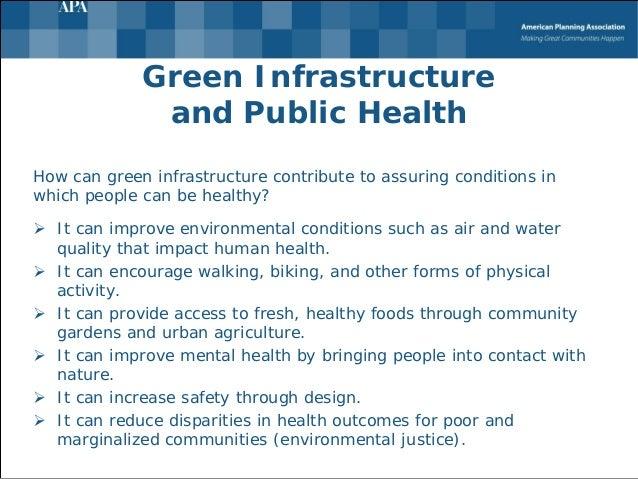 Health Benefits Of Green Infrastructure