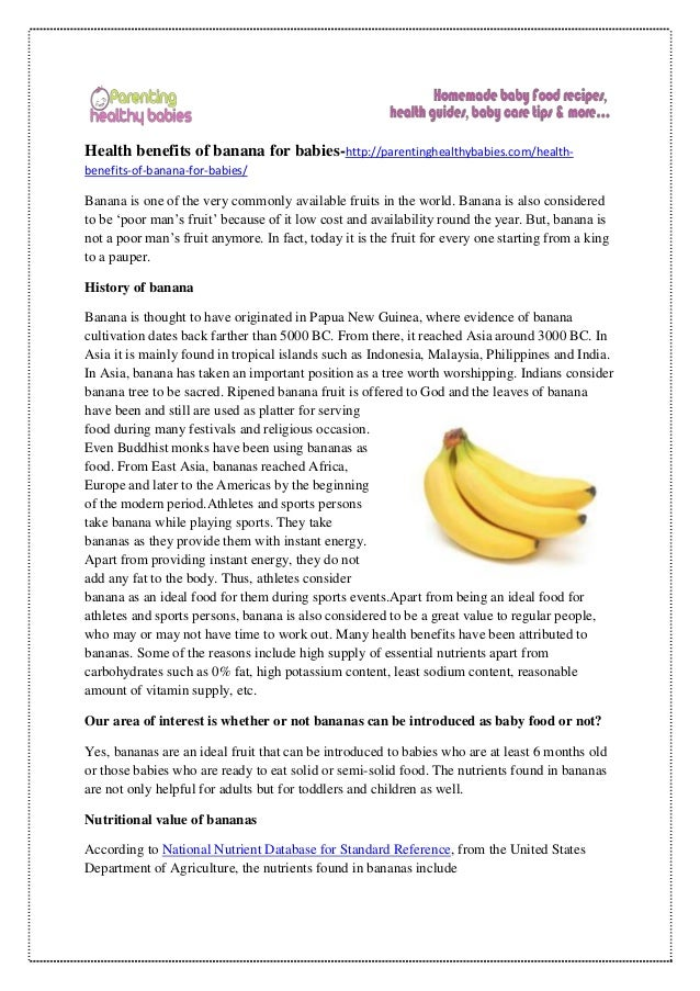 what are the health benefits of one banana a day