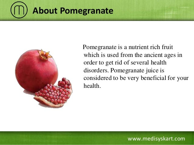 What are the health benefits of pomegranates?