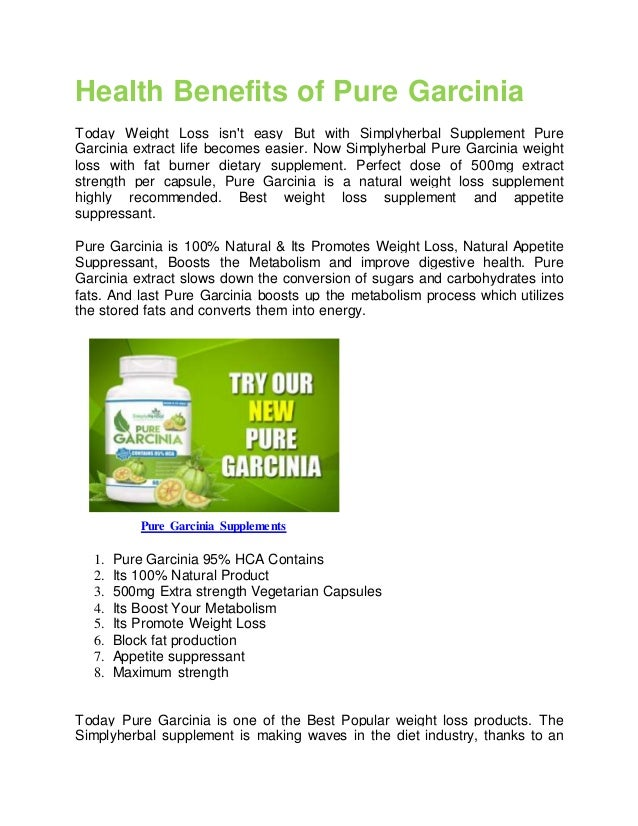 Health Benefits of Pure Garcinia Today Weight Loss isn't easy But with Simplyherbal Supplement Pure Garcinia extract life ...