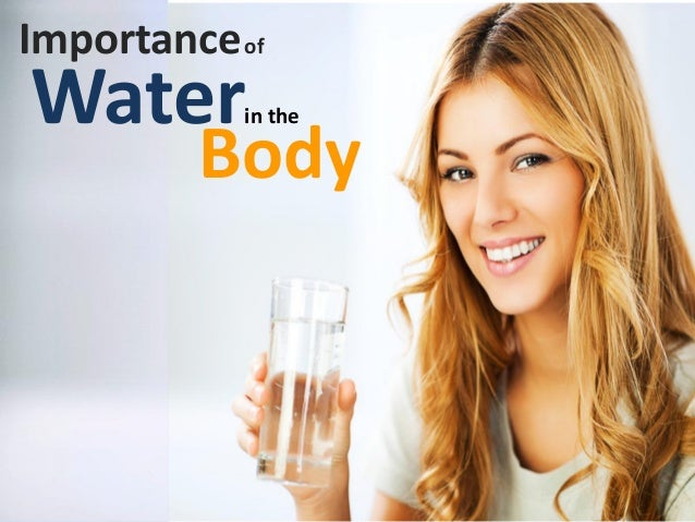 Importanceof Waterin the Body