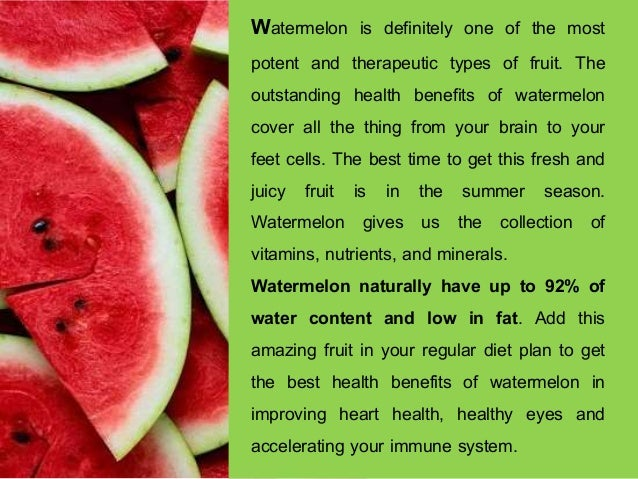 Health Benefits of Watermelon: See How this Amazing Fruit can Control Your 8 Health Aliments ! Slide 2