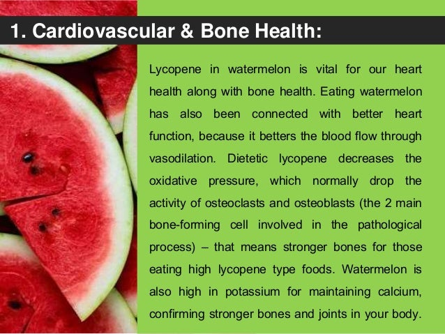 Health Benefits of Watermelon: See How this Amazing Fruit can Control Your 8 Health Aliments ! Slide 3
