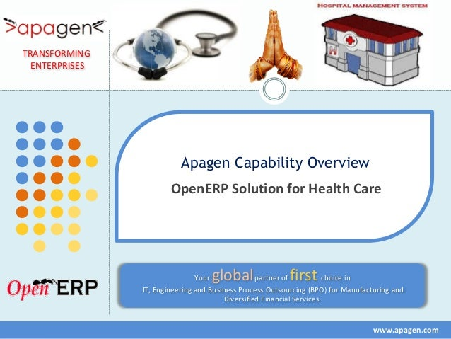 TRANSFORMING  ENTERPRISES                           Apagen Capability Overview                        OpenERP Solution for...