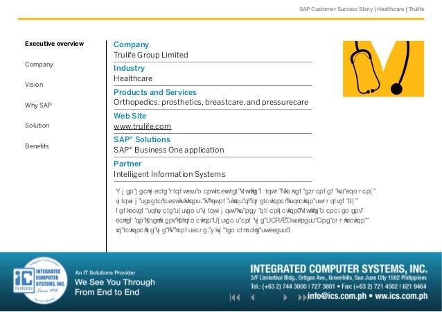 SAP Customer Success Story: Healthcare (Trulife)
